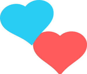 Clipart two hearts png download Two Hearts Clipart Blue | Clipart Panda - Free Clipart Images png download