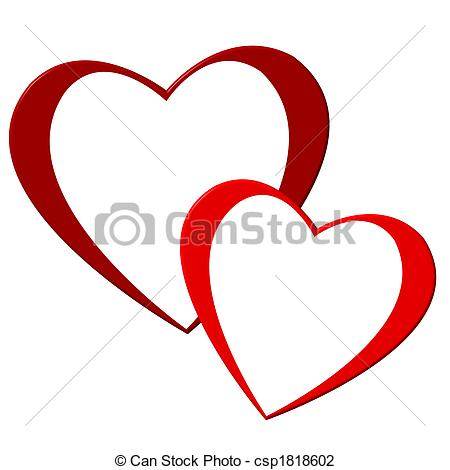 Clipart two hearts jpg black and white stock Two hearts Illustrations and Clipart. 16,545 Two hearts royalty ... jpg black and white stock