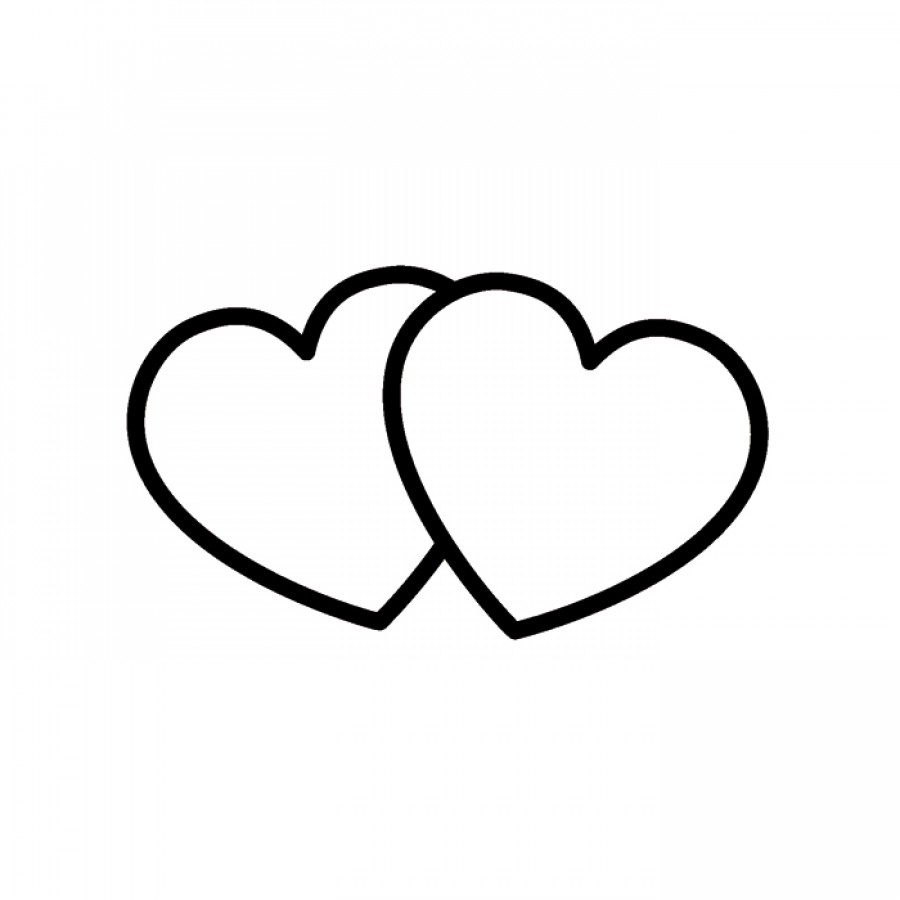 Clipart two hearts intertwined graphic black and white stock Two hearts intertwined clipart - ClipartFest graphic black and white stock