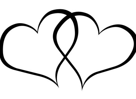 Clipart two hearts intertwined image stock Two Hearts Design Marriage&Wedding Clipart, Two Wedding Rings ... image stock