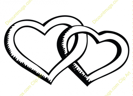 Clipart two hearts intertwined. Design marriage wedding rings