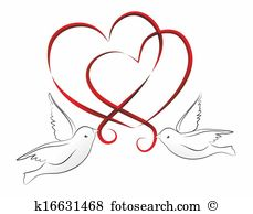 Stock illustration images. Clipart two hearts intertwined