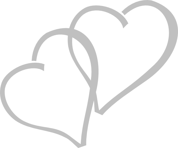 Clipart two hearts intertwined graphic royalty free download Silver Hearts Clipart - Clipart Kid graphic royalty free download