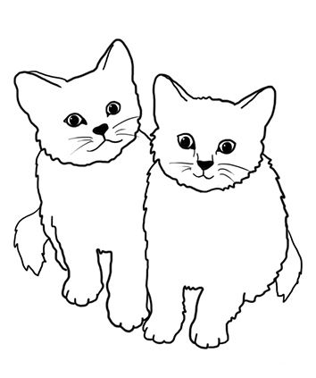 Clipart two kitties on pillow black and white jpg black and white stock Free Two Cats Cliparts, Download Free Clip Art, Free Clip Art on ... jpg black and white stock