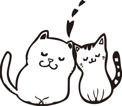 Clipart two kitties on pillow black and white clip library download Free Two Cats Cliparts, Download Free Clip Art, Free Clip Art on ... clip library download