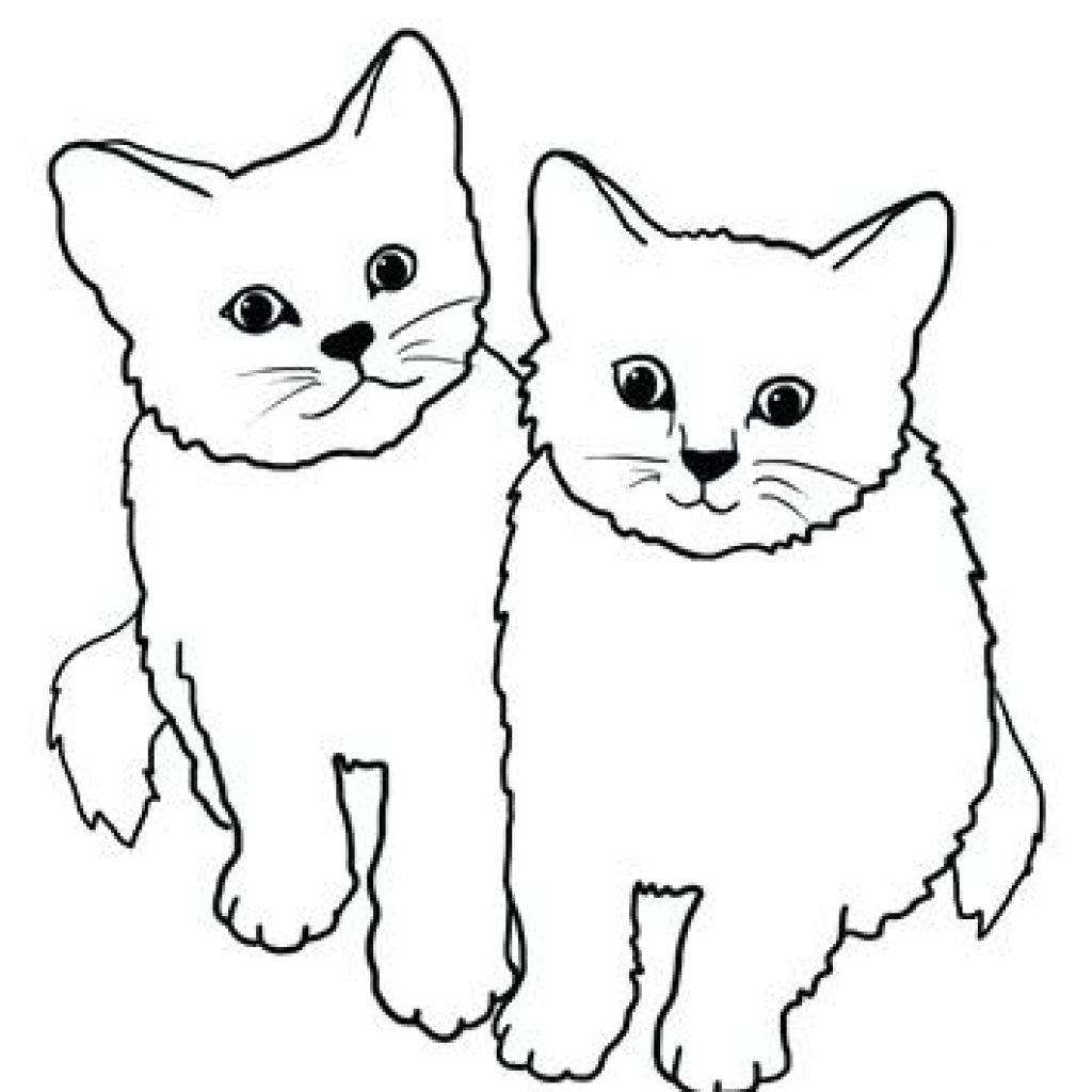 Clipart two kitties on pillow black and white jpg transparent stock Cat Drawing Clipart at PaintingValley.com | Explore collection of ... jpg transparent stock