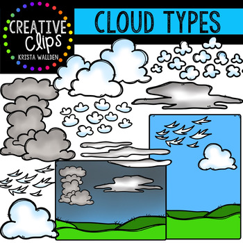 Clipart types png royalty free download Cloud Types Clipart {Creative Clips Clipart} png royalty free download