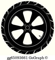 Tire clipart vector clip black and white library Car Tire Clip Art - Royalty Free - GoGraph clip black and white library