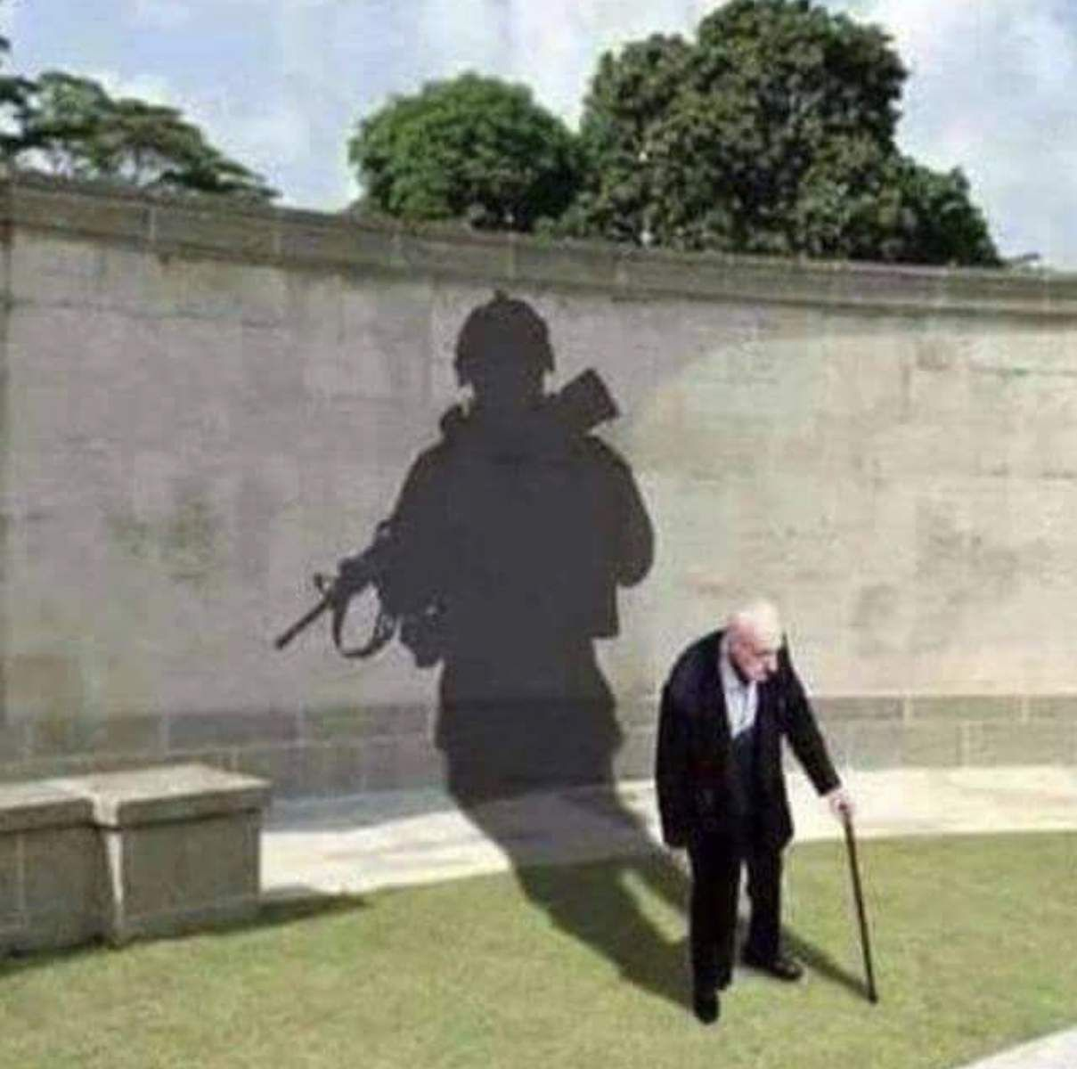 Clipart u s marine talks to elderly lady graphic stock Image result for old soldier young soldier   No Safe Space Required ... graphic stock