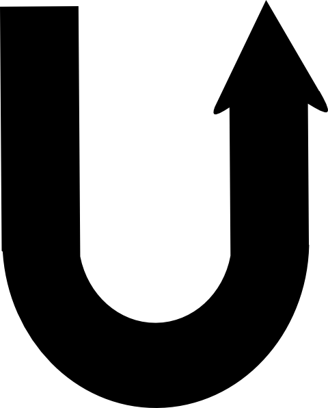 Clipart u turn clipart black and white stock Uturn Clip Art at Clker.com - vector clip art online, royalty free ... clipart black and white stock