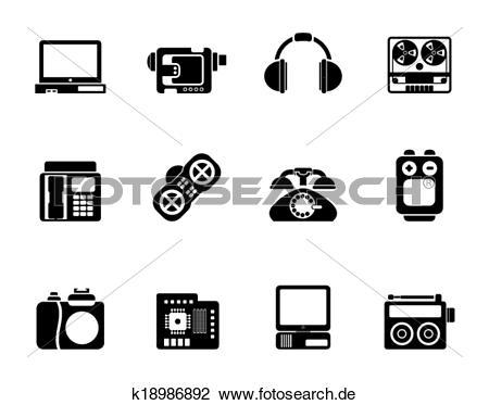 Clipart und medien jpg transparent stock Clipart - elektronik, und, medien, heiligenbilder k18986892 ... jpg transparent stock