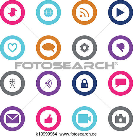 Clipart und medien clip transparent library Clipart - gesellige, technologie, und, medien, symbol, satz ... clip transparent library