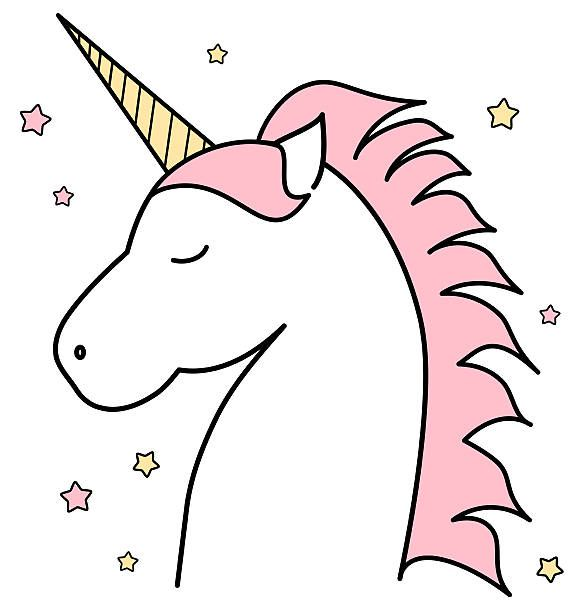 Simple unicorn head clipart banner freeuse stock Unicorn clipart unicorn head #5 | Where magic lives.. | Unicorn ... banner freeuse stock