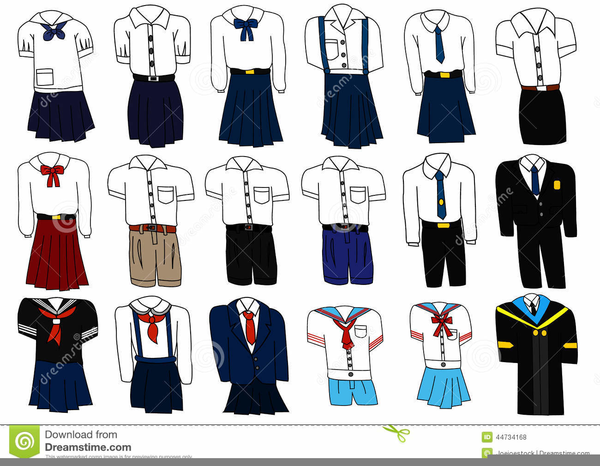 Uniform clipart clip black and white stock School Uniform Clipart Free | Free Images at Clker.com - vector clip ... clip black and white stock