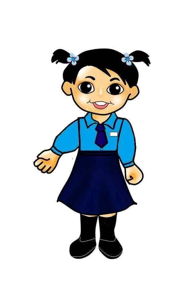 Clipart uniform svg royalty free stock girl with school uniform | doodle clip art | Disney characters ... svg royalty free stock