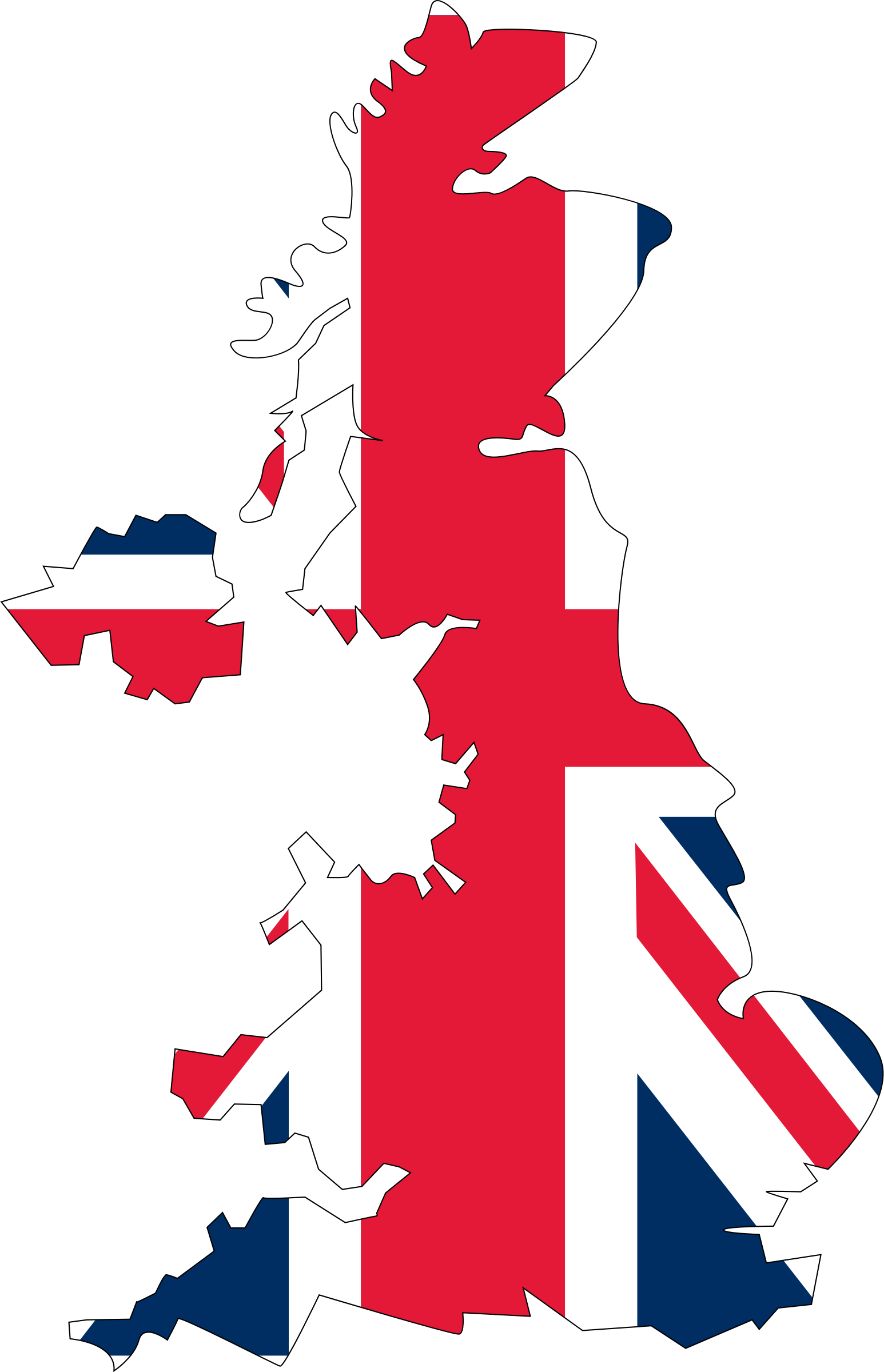 Flag map big image. Clipart united kingdom