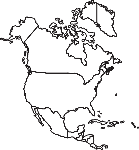 Clipart united states map outline clip art free Canada And Usa Map Clipart - Clipart Kid clip art free