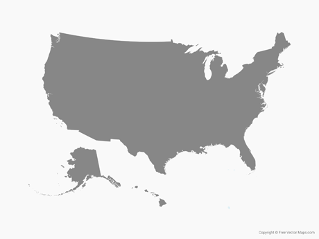 Clipart united states outline clipart black and white Usa outline clipart - ClipartFox clipart black and white