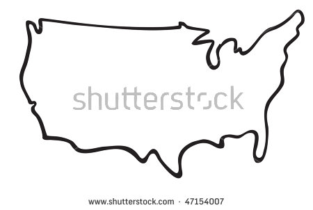 Clipart united states outline svg download Vector Images, Illustrations and Cliparts: cartoon vector outline ... svg download