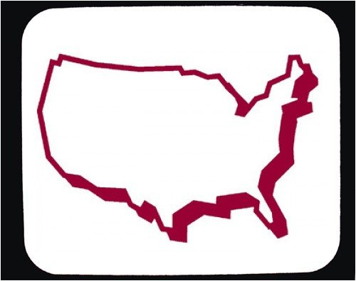 Clipart united states outline banner library Outline of united states clipart - ClipartFest banner library