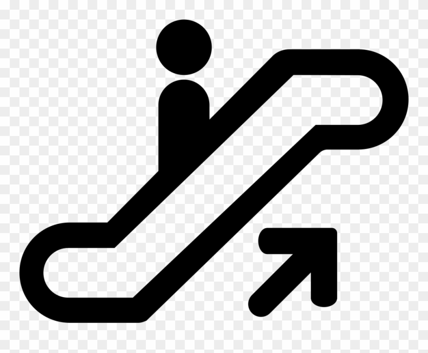 Clipart up image black and white Elevator Comments - Escalator Up Sign Clipart (#2064418) - PinClipart image black and white