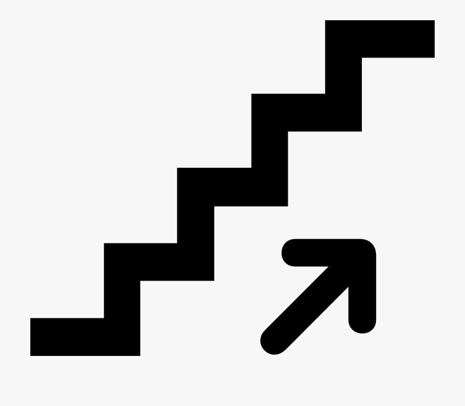 Stairs clipart black and white vector library library Stair - Clipart - Up Clipart Black And White #164503 - Free Cliparts ... vector library library