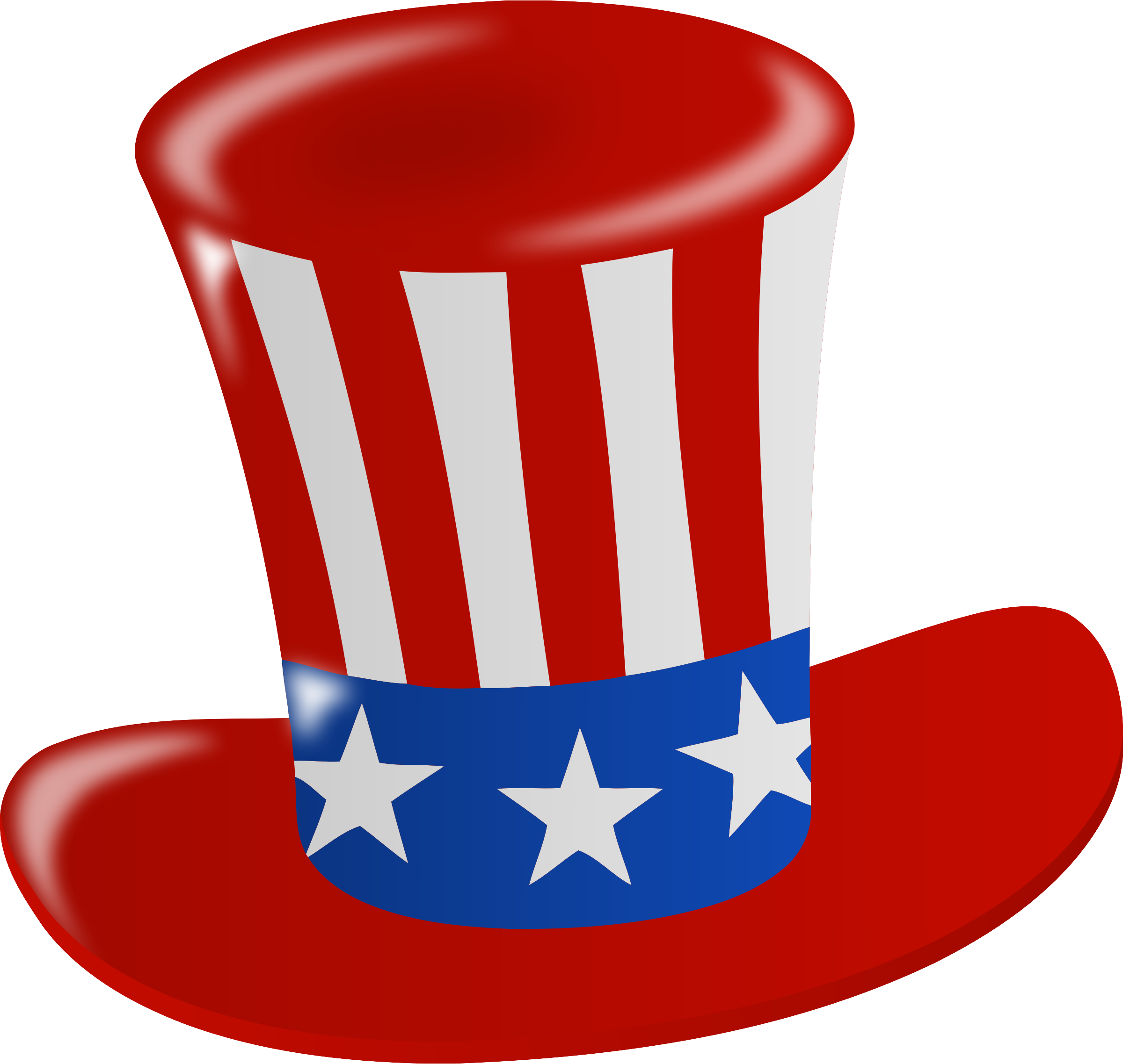 Clipart us banner library download Clipart - US flag hat banner library download