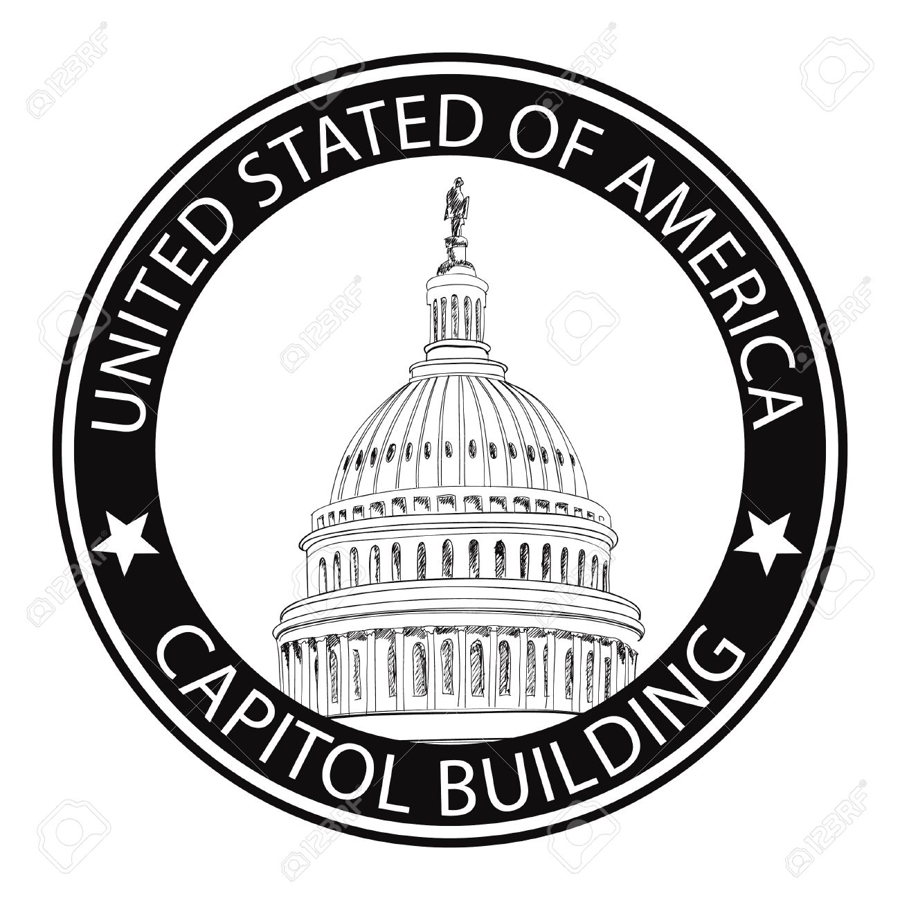 Clipart us capitol building svg black and white Capitol clipart silhouette - ClipartFest svg black and white