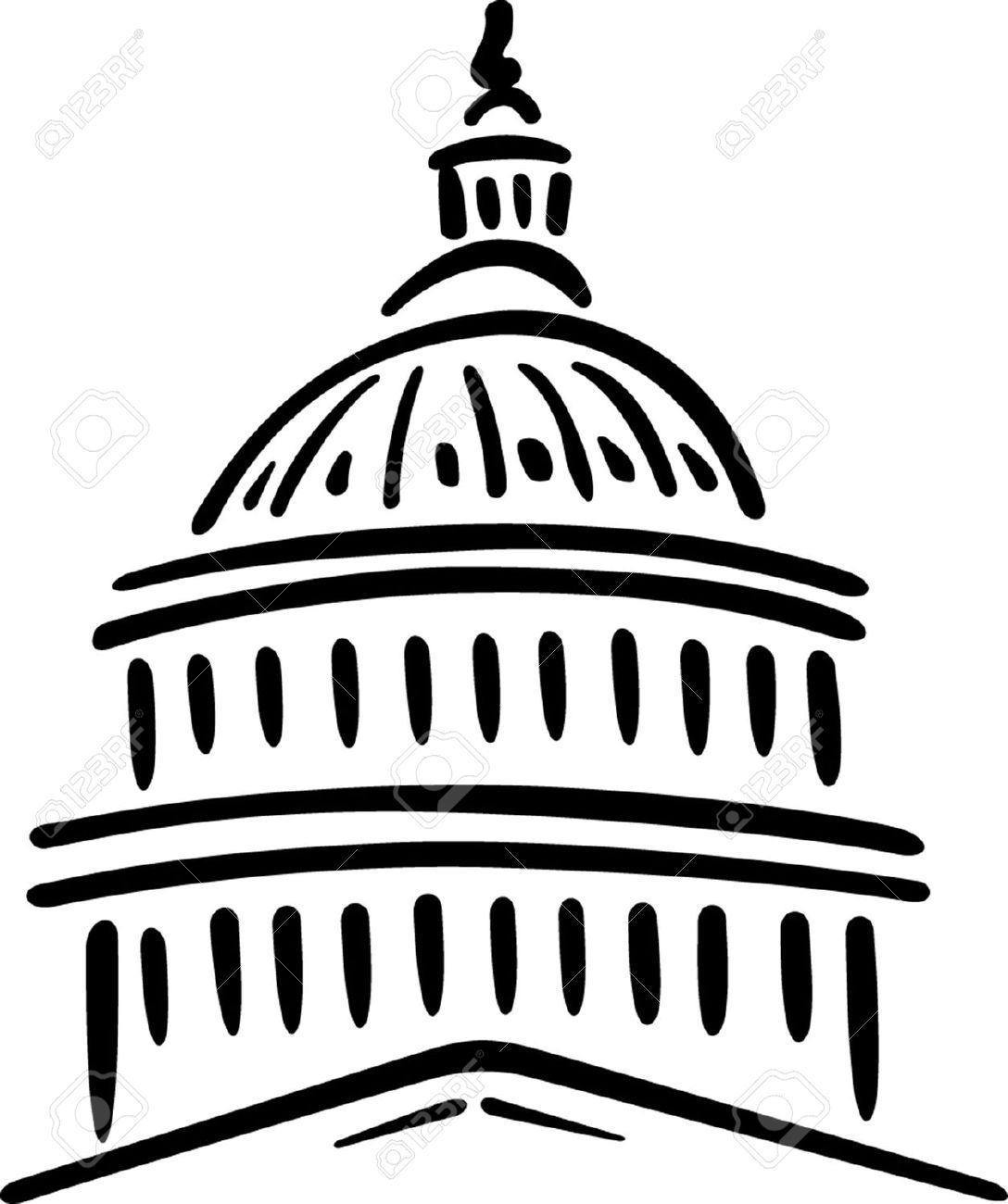 Clipart us capitol building clip library library Capitol building dome clipart - ClipartFest clip library library