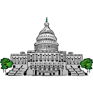 Clipart us capitol building banner black and white library Us capitol building clipart - ClipartFest banner black and white library