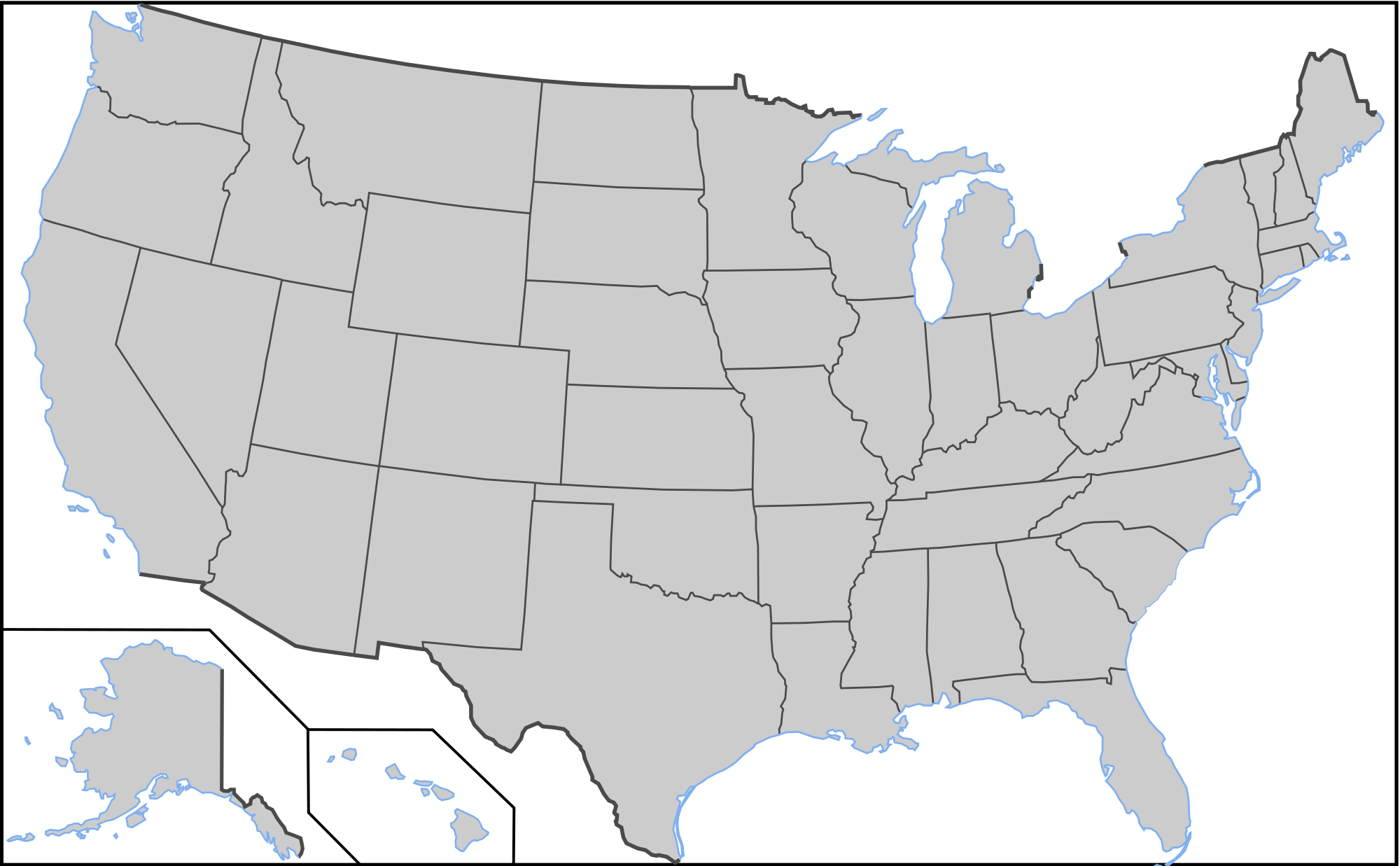 Blank gray google maps. Clipart us map