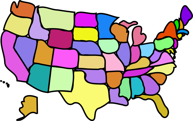 Clipart us map free png download Free Clipart: U.S. Map, Cartoony | bnielsen png download