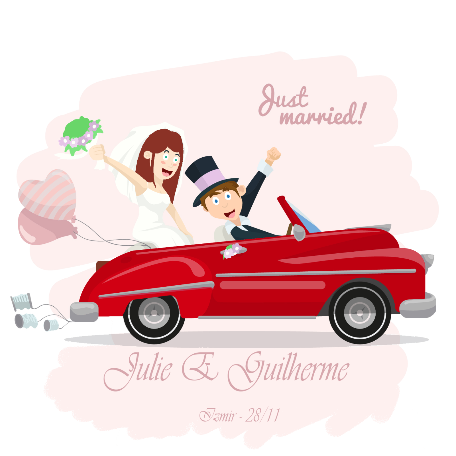 Just married car clipart banner Wedding invitation Wedding photography Clip art - Just Married 1600 ... banner