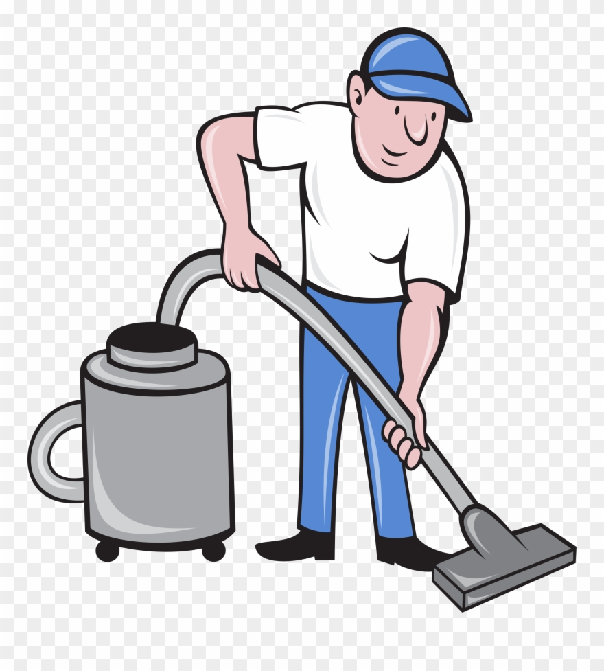 Vacuumming clipart clipart free Clip Art Transparent Stock Male Cleaner Vacuuming Cleaning - Vacuum ... clipart free