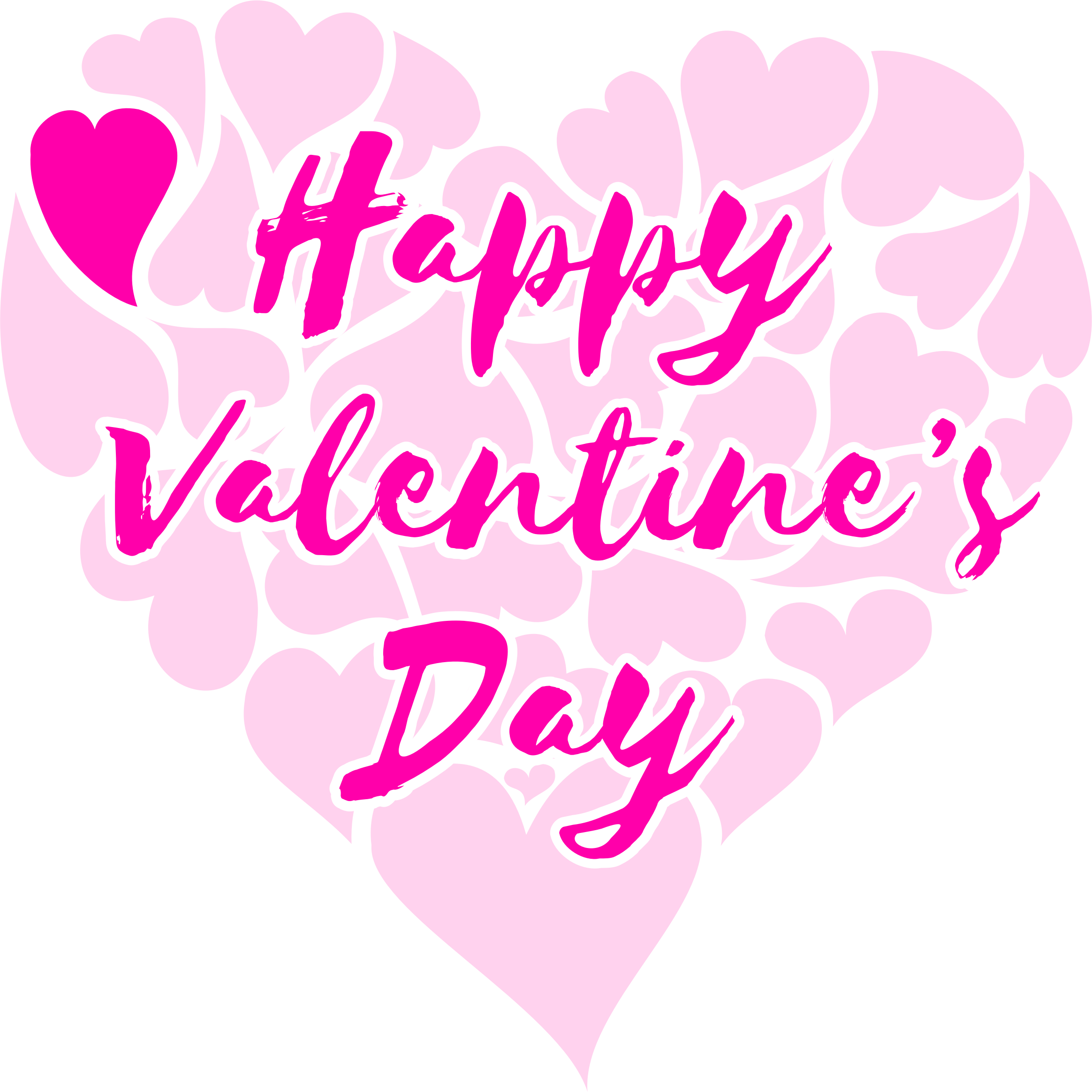 Clipart valentines day heart jpg royalty free download Clipart - Happy Valentine's Day Title with Hearts jpg royalty free download