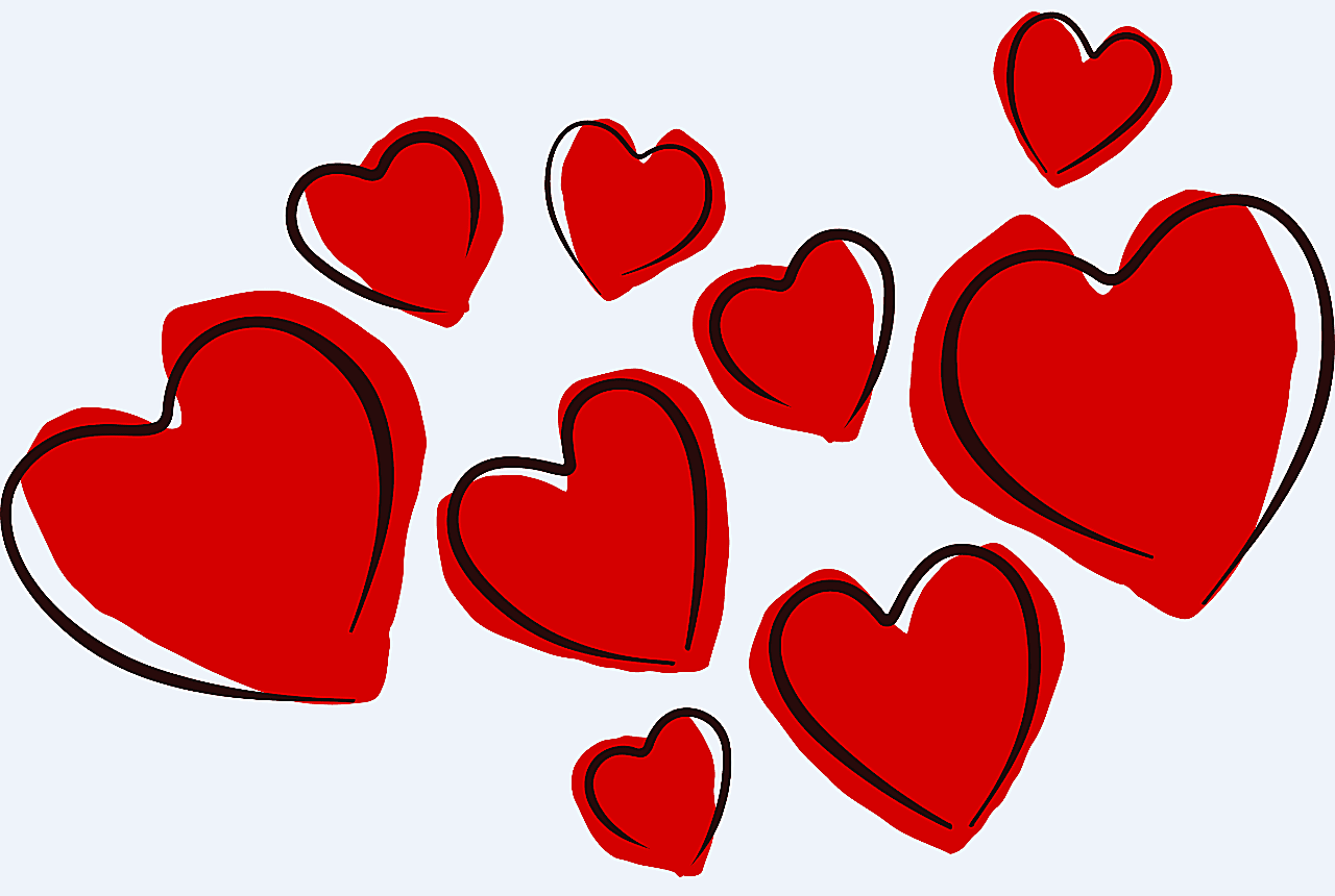 Valentine hearts free clipart picture transparent library Lots of Free Valentine Clip Art Images picture transparent library