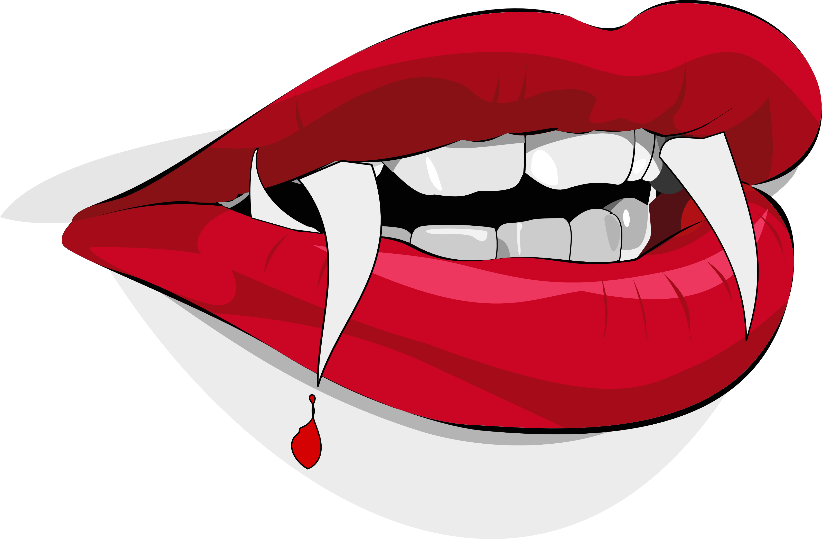 Clipart vampire teeth banner library Bloody Vampire Lips - Free Halloween Vector Clipart Illustration ... banner library