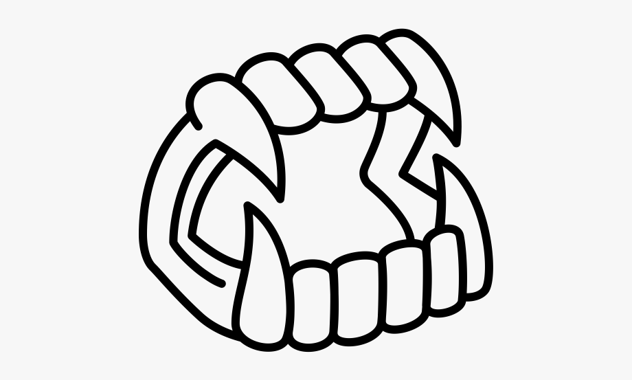 Clipart vampire teeth picture freeuse download Vampire Fangs Line Art #744298 - Free Cliparts on ClipartWiki picture freeuse download