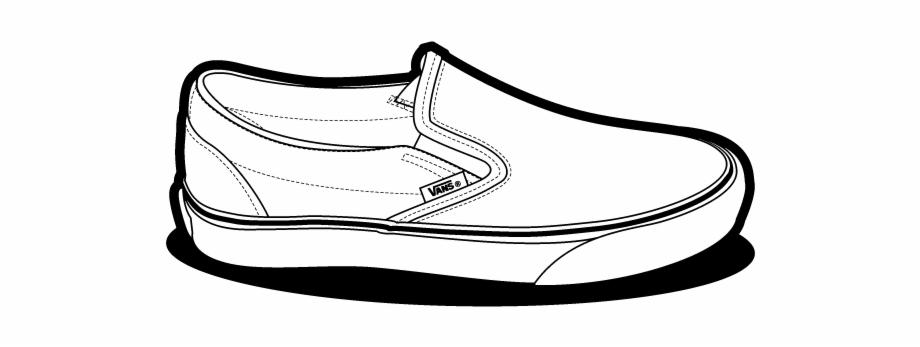 Old skool vans clipart svg free Shoe Clipart Vans - Slip On Vans Drawing, Transparent Png Download ... svg free