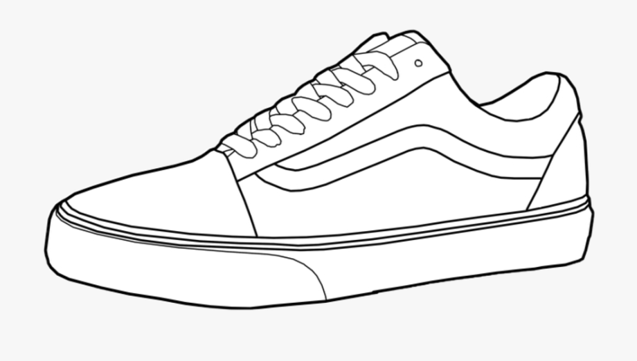 Old skool vans clipart