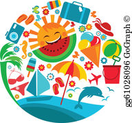 Vacaion clipart clip free Vacation Clip Art - Royalty Free - GoGraph clip free