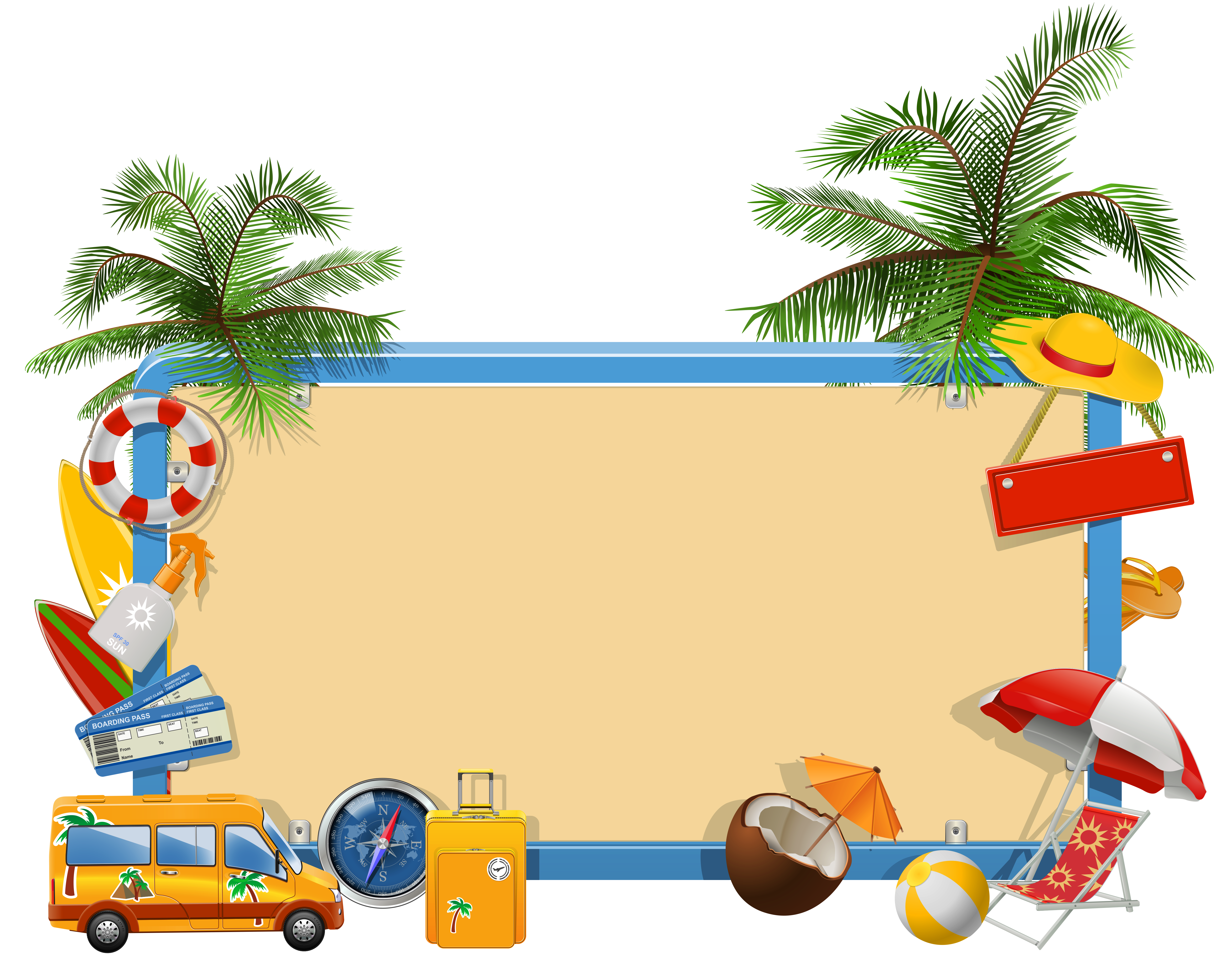 Clipart vcation jpg freeuse Summer Vacation PNG Clipart   Gallery Yopriceville - High-Quality ... jpg freeuse