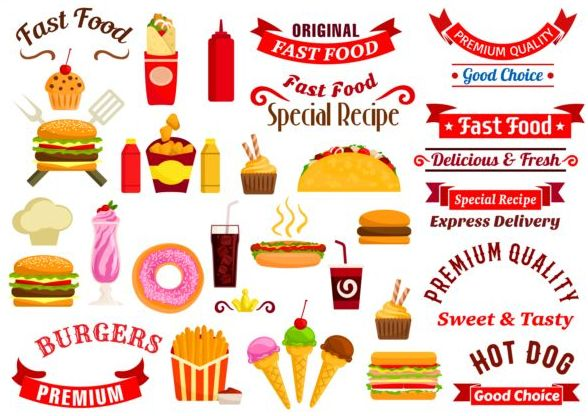 Clipart vector free download. Logo for fast food