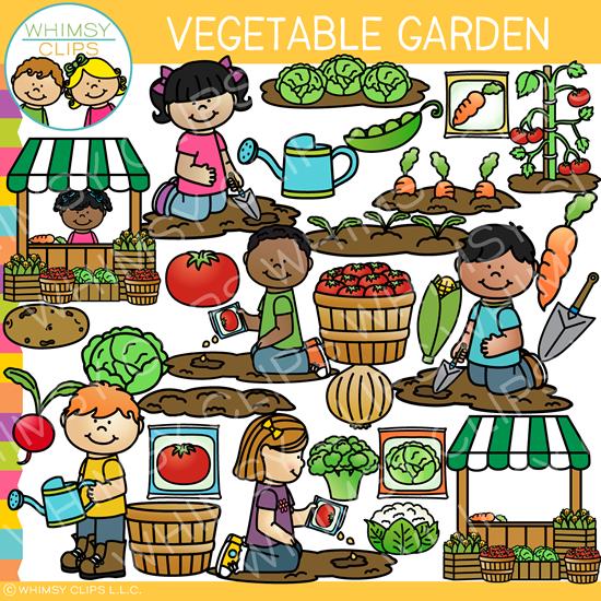 Clipart garden vegetables clip transparent library Vegetable Garden Clip Art clip transparent library