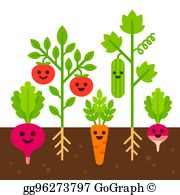 Vegetable plants clipart image free download Vegetable Garden Clip Art - Royalty Free - GoGraph image free download