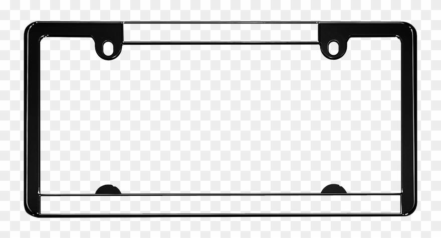 Clipart vehicle registration jpg free Black - Vehicle Registration Plate Clipart (#514112) - PinClipart jpg free