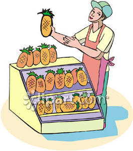 Clipart vendor black and white library A Pineapple Vendor - Royalty Free Clipart Picture black and white library
