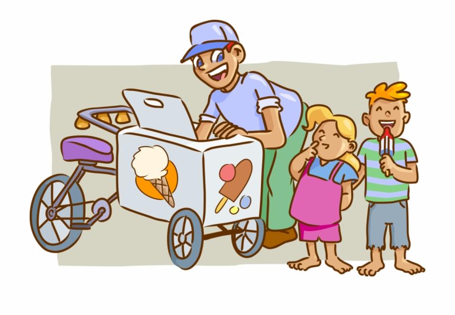 Clipart vendor clip art download Vector Illustration Of Gelato Ice Cream Bicycle Vendor - Ice Cream ... clip art download