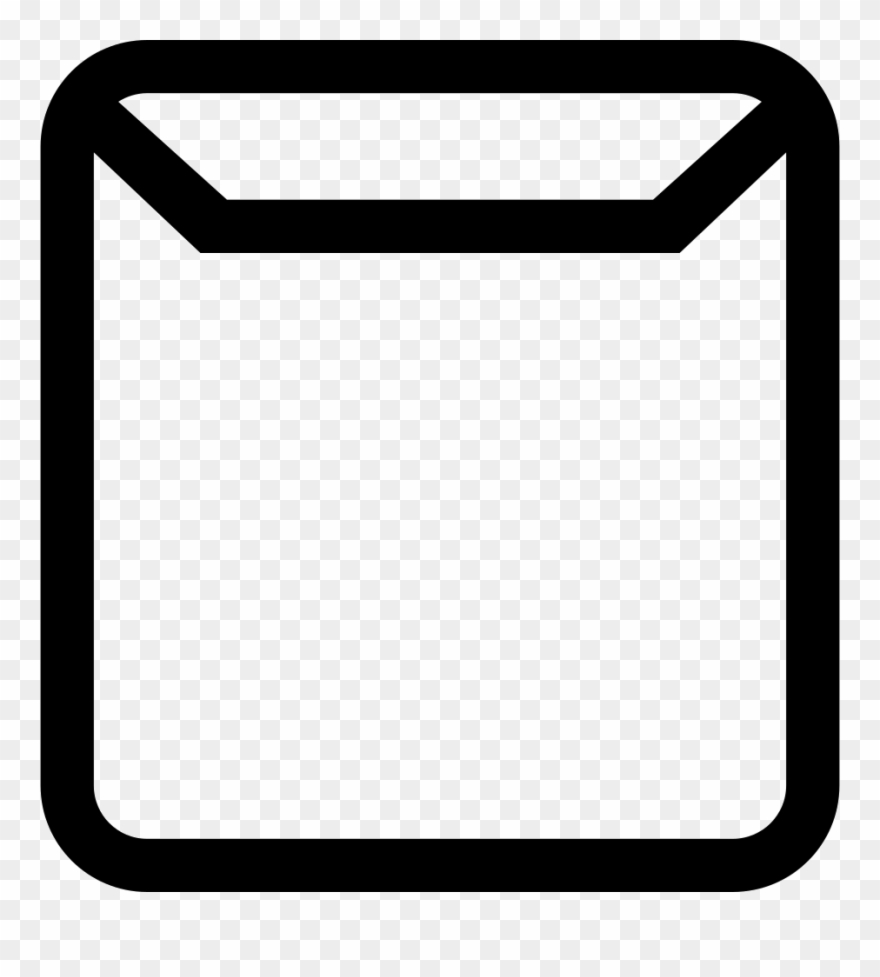 Clipart ventana png free library Jpg Black And White Email Square Outlined Interface - Icono Ventana ... png free library