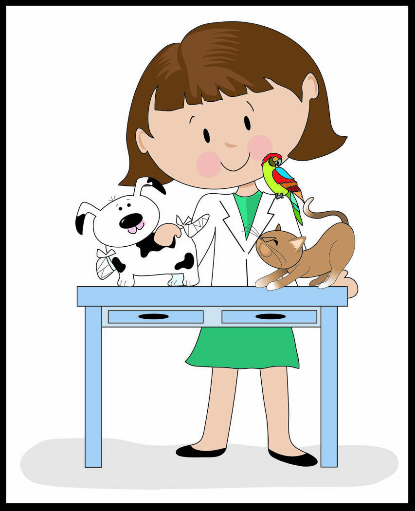 Vetranarian clipart image black and white stock Veterinary Clipart | Free download best Veterinary Clipart on ... image black and white stock